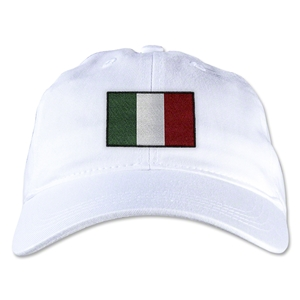 Italy Unstructured Adjustable Cap (White)