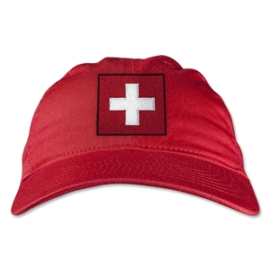 Switzerland Unstructured Adjustable Cap (Red)