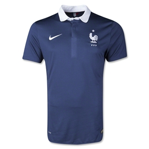 France 14/15 Authentic Home Soccer Jersey