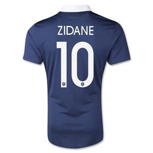 France 2014 ZIDANE Authentic Home Soccer Jersey