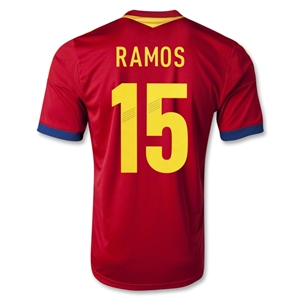 Spain 2013 RAMOS Home Soccer Jersey