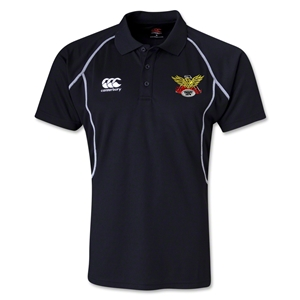 Old White Rugby Club Polo (Black)