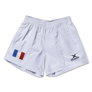 France Flag Kiwi Pro Rugby Shorts (White)