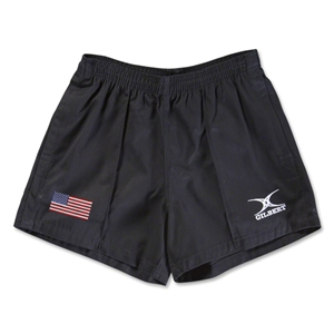 USA Flag Kiwi Pro Rugby Shorts (Black)