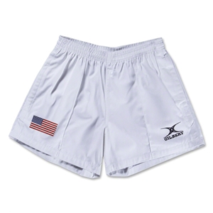 USA Flag Kiwi Pro Rugby Shorts (White)