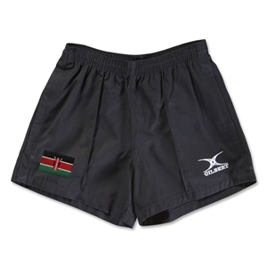 Kenya Flag Kiwi Pro Rugby Shorts (Black)