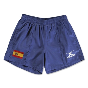 Spain Flag Kiwi Pro Rugby Shorts (Navy)