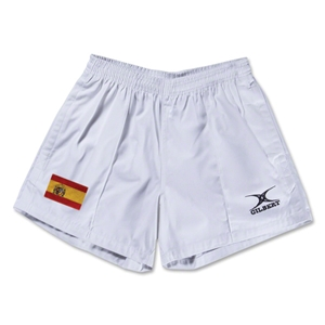 Spain Flag Kiwi Pro Rugby Shorts (White)
