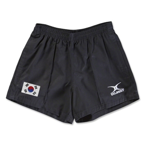 South Korea Flag Kiwi Pro Rugby Shorts (Black)