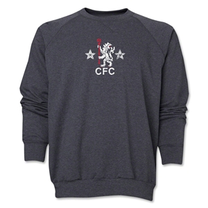Chelsea Distressed Retro Crewneck Fleece (Dark Gray)