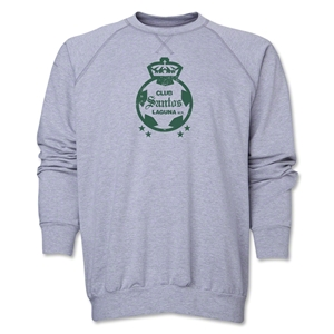 Santos Laguna Distressed Crewneck Fleece (Gray)