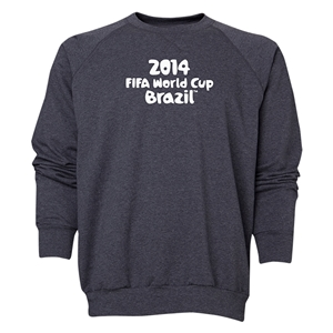2014 FIFA World Cup Brazil(TM) Men's Official Logotype Crewneck Sweatshirt (Dark Grey)