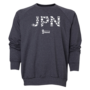 Japan 2014 FIFA World Cup Brazil(TM) Men's Elements Crewneck Sweatshirt (Dark Grey)