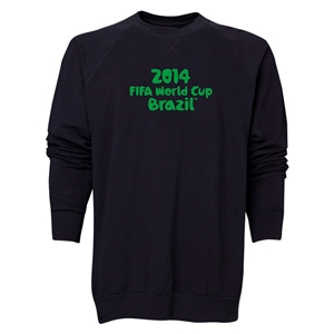 2014 FIFA World Cup Brazil(TM) Men's Official Logotype Crewneck Sweatshirt (Black)