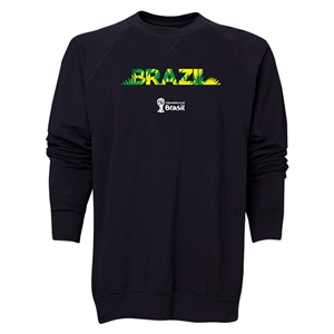 Brazil 2014 FIFA World Cup Brazil(TM) Men's Palm Crewneck Sweatshirt (Black)
