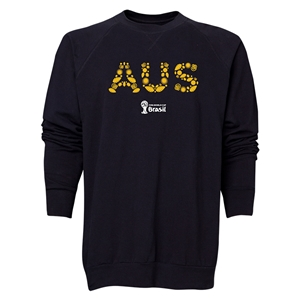 Australia 2014 FIFA World Cup Brazil(TM) Men's Elements Crewneck Sweatshirt (Black)
