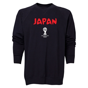 Japan 2014 FIFA World Cup Brazil(TM) Men's Core Crewneck Sweatshirt (Black)