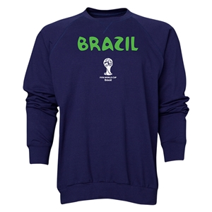Brazil 2014 FIFA World Cup Brazil(TM) Men's Core Crewneck Sweatshirt (Navy)