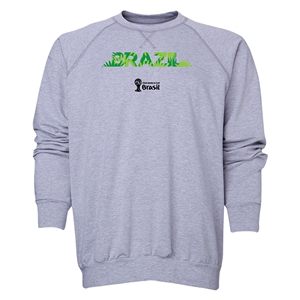 Brazil 2014 FIFA World Cup Brazil(TM) Men's Palm Crewneck Sweatshirt (Grey)