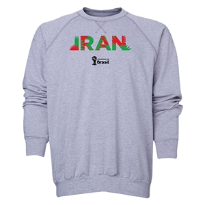 Iran 2014 FIFA World Cup Brazil(TM) Men's Palm Crewneck Sweatshirt (Grey)