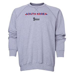 South Korea 2014 FIFA World Cup Brazil(TM) Men's Palm Crewneck Sweatshirt (Grey)