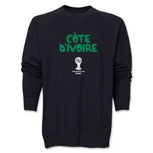 Cote d'Ivoire 2014 FIFA World Cup Brazil(TM) Core Crewneck Fleece (Black)