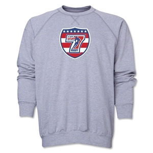 USA Sevens Rugby Crewneck Fleece (Gray)