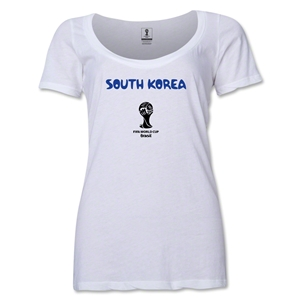 South Korea 2014 FIFA World Cup Brazil(TM) Women's Core Scoopneck T-Shirt (White)