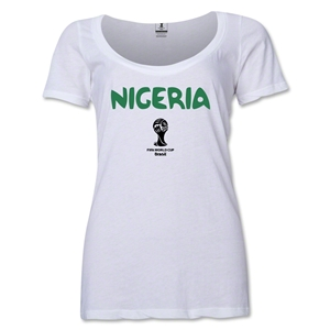 Nigeria 2014 FIFA World Cup Brazil(TM) Core Women's Scoopneck T-Shirt (White)