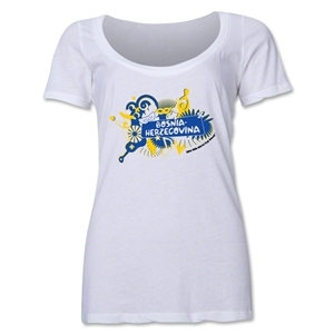 Bosnia-Herzegovina 2014 FIFA World Cup Brazil(TM) Women's Celebration Scoopneck T-Shirt (White)
