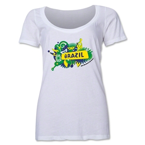 Brazil 2014 FIFA World Cup Brazil(TM) Women's Celebration Scoopneck T-Shirt (White)
