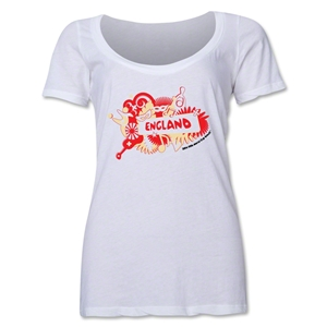 England 2014 FIFA World Cup Brazil(TM) Women's Celebration Scoopneck T-Shirt (White)