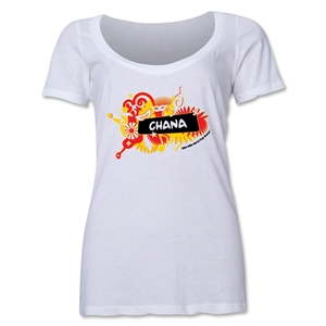 Ghana 2014 FIFA World Cup Brazil(TM) Women's Celebration Scoopneck T-Shirt (White)