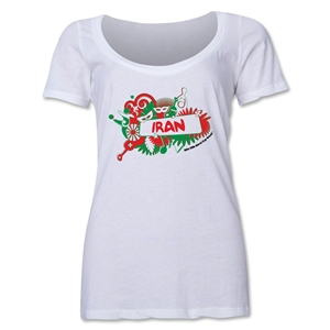 Iran 2014 FIFA World Cup Brazil(TM) Women's Celebration Scoopneck T-Shirt (White)