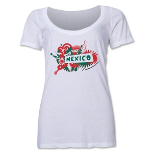 Mexico 2014 FIFA World Cup Brazil(TM) Women's Celebration Scoopneck T-Shirt (White)
