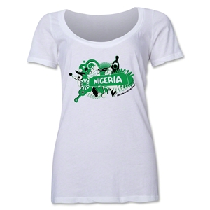 Nigeria 2014 FIFA World Cup Brazil(TM) Women's Celebration Scoopneck T-Shirt (White)