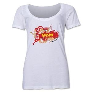 Spain 2014 FIFA World Cup Brazil(TM) Women's Celebration Scoopneck T-Shirt (White)