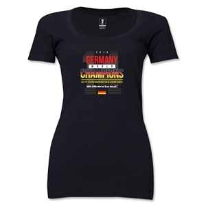 Germany 2014 FIFA World Cup Brazil(TM) Women's Champions 14 Scoopneck T-Shirt (Black)