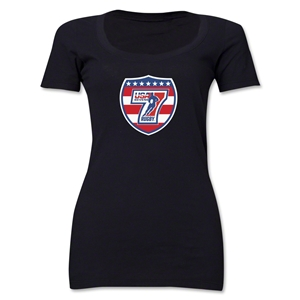 USA Sevens Rugby Women's Scoop Neck T-Shirt (Black)