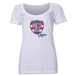 USA Sevens Vegas Rugby Women's Scoop Neck T-Shirt (White)