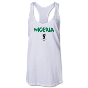 Nigeria 2014 FIFA World Cup Brazil(TM) Core Women's Racerback Tank Top (White)