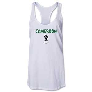 Cameroon 2014 FIFA World Cup Brazil(TM) Core Racerback Tank Top (White)