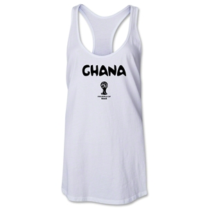 Ghana 2014 FIFA World Cup Brazil(TM) Core Racerback Tank Top (White)