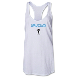 Uruguay 2014 FIFA World Cup Brazil(TM) Core Racerbank Tank Top (White)