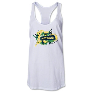 Australia 2014 FIFA World Cup Brazil(TM) Celebration Racerback Tank Top (White)