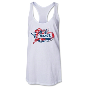 France 2014 FIFA World Cup Brazil(TM) Celebration Racerback Tank Top (White)