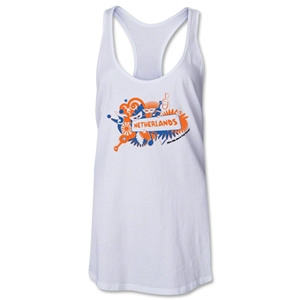 Netherlands 2014 FIFA World Cup Brazil(TM) Celebration Racerback Tank Top (White)