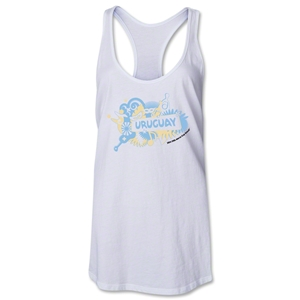 Uruguay 2014 FIFA World Cup Brazil(TM) Celebration Racerback Tank Top (White)