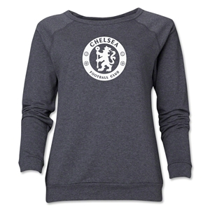 Chelsea Emblem Women's Crewneck Fleece (Dark Gray)