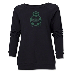 Santos Laguna Distressed Women's Crewneck Fleece (Black)
